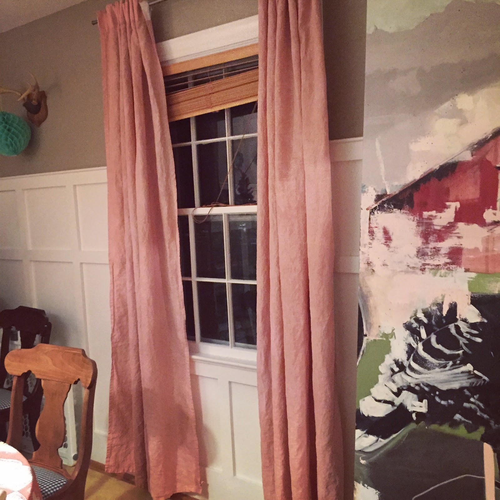 Tiptoethrough diy dyed dinging room curtains here are the curtains the night following their dye day i simply followed the dye instructions but let the curtains soak for extra time just to be sure nvjuhfo Images