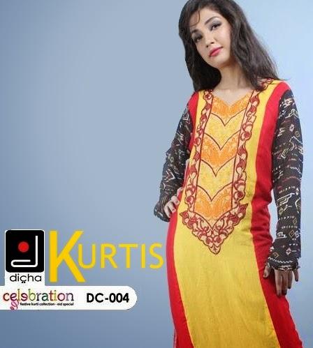 Dicha kurtis Eid Collection 2014