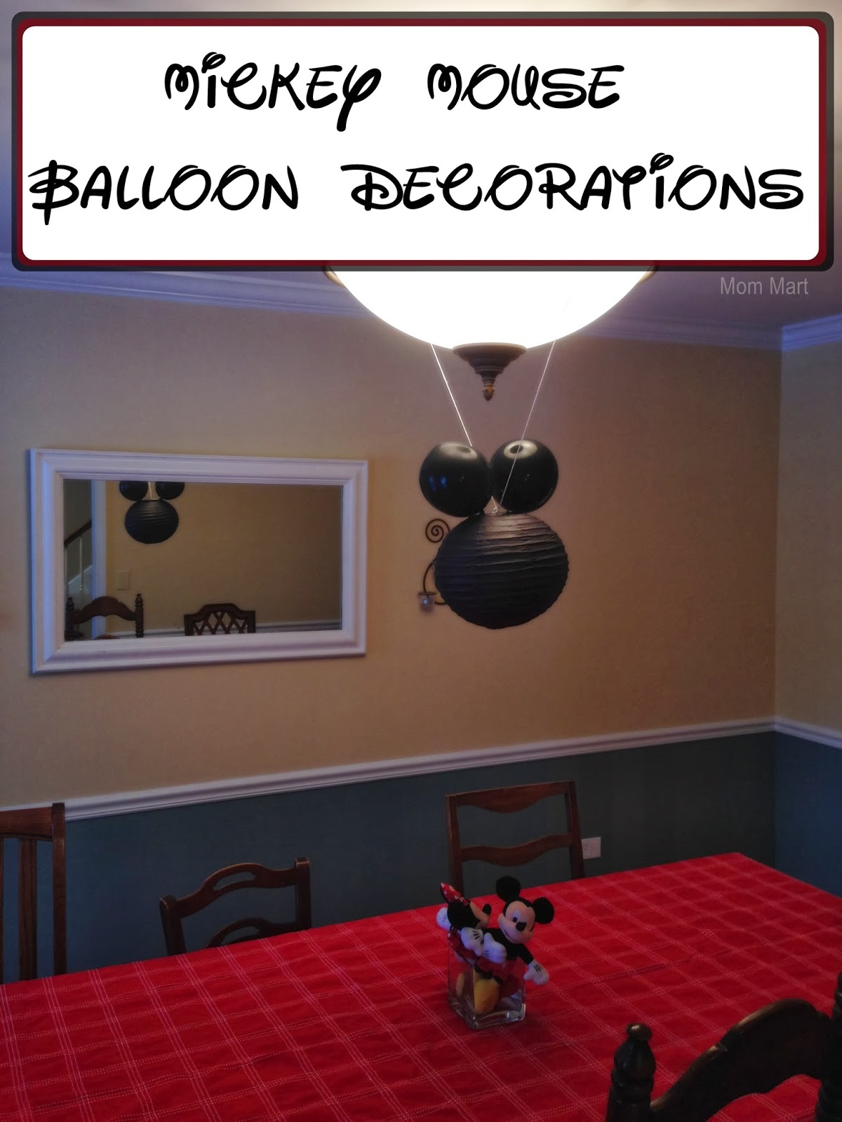 Minnie Mouse Themed Birthday Party - Mickey Mouse Balloon Decorations