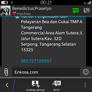 Konfirmasi alamat lengkap Benecditus Prasetyo oleh enkosa sport toko online terpercaya
