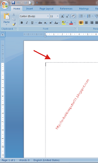 Cara Menampilkan Text Boundaries di Microsoft Word 2007