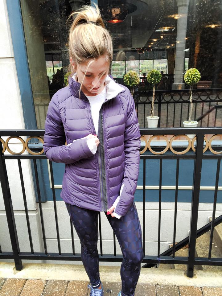 lululemon fluffed up jacket speed tight