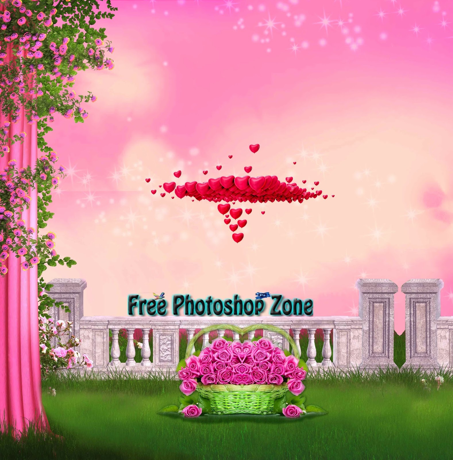 Wedding decoration love psd template free photoshop zone wedding decoration love psd template junglespirit Images