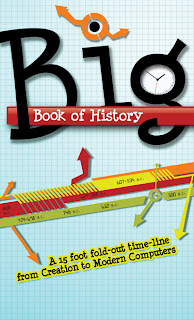 Big book of History 15 ft of historical information folded up into one book that can easily be kept on a bookshelf.