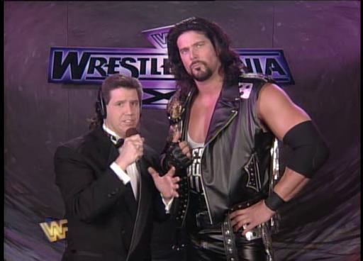 WWF / WWE: Wrestlemania 11 - Todd Pettengill talks to WWF Champion Diesel about his title defence against Shawn Michaels