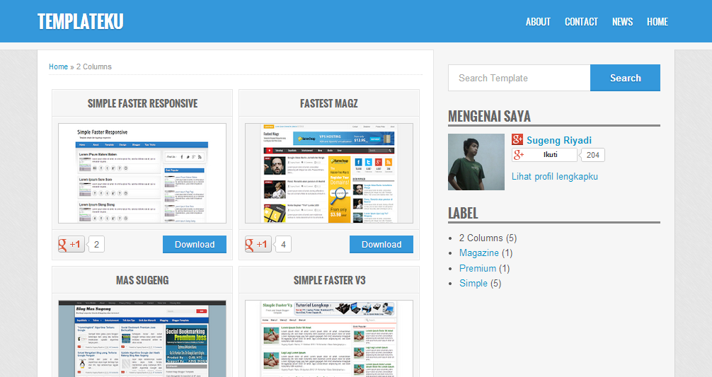 Download Template Blogger Berkualitas