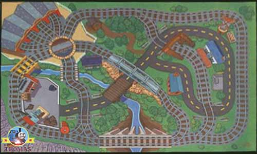 Thomas And His Friends Wooden Railway Felt Playmat Rug For Kids Carpet Play Mat Nursery Furniture