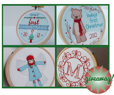 SeptemberHouse Embroidered Holiday Ornament Giveaway