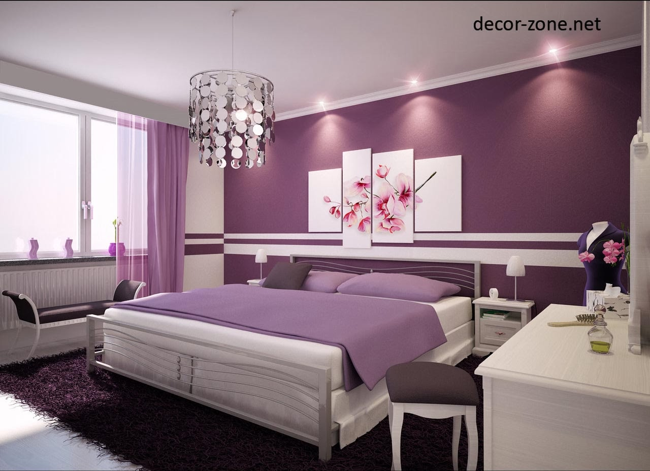 Purple Bedroom Lighting Ideas, Bedroom Wall Lighting