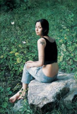 Oleos de Mujeres Chinas Hiperrealismo