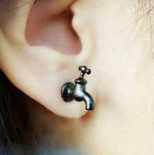 Creative earrings Design | New model water tap shape Earrings Pics | Earrings Pics | Modern Earrings | Interesting earring styles | Fancy earring types | water tap design for Women | Women ornaments | Women fashion materials | Women fashion designs | Women ornament ideas