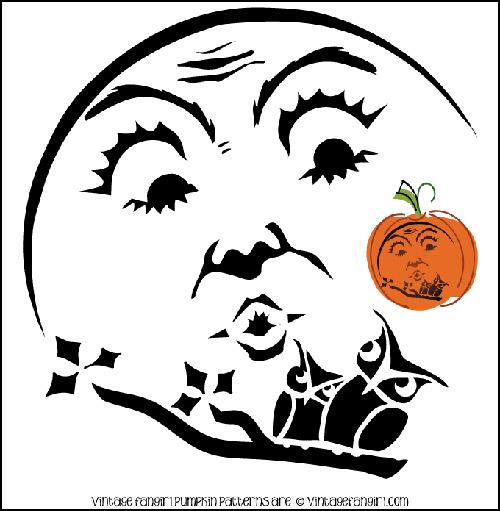 Free Printable Painted Pumpkin Faces