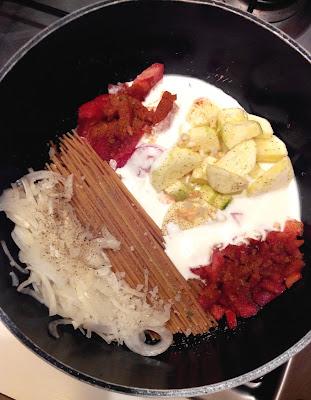 one pot pasta, spaghetti, cuisine, bullelodie