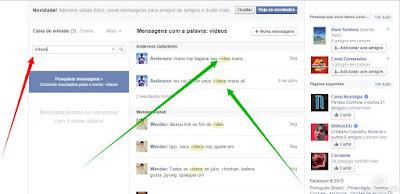 Como descobrir conversas do facebook