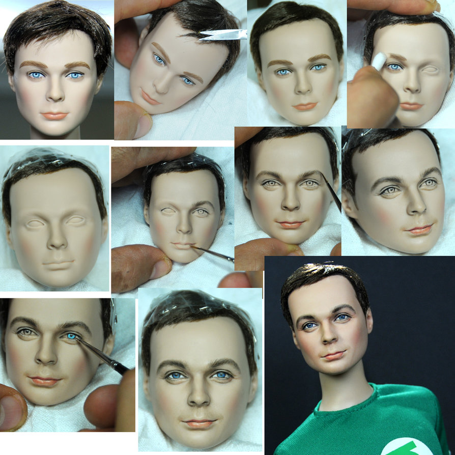 17-Big-Bang-Theory-Sheldon-Cooper-Jim-Parsons-Noel-Cruz-Hyper-Realistic-Make-up-on-small-Dolls-www-designstack-co
