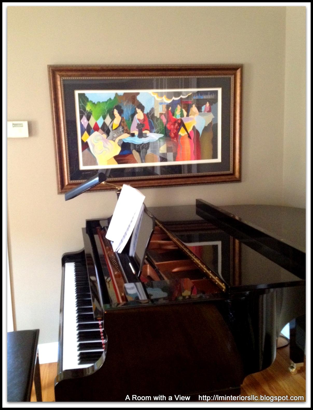 Art With Living Room Scene Grand Piano