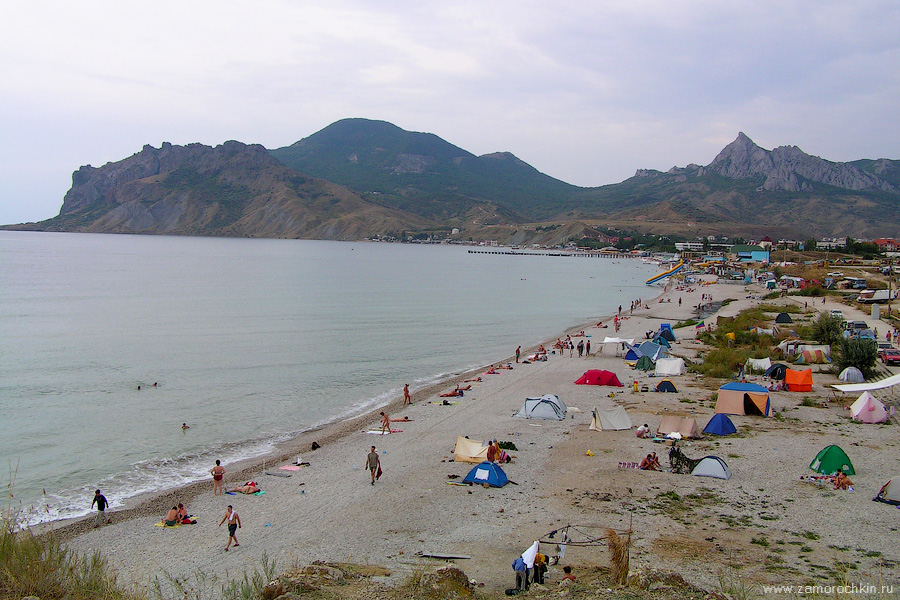 Пляж Коктебеля с холма Юнге | Koktebel beach viewed from Yungeh hill