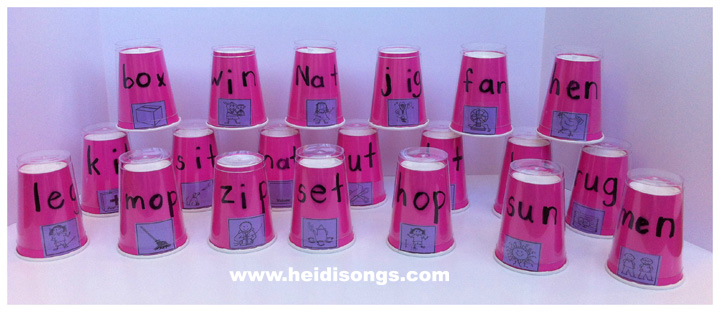 we Sound Word Find word Cups and the to Sound Kids  sight Middle  of to How a Teach song