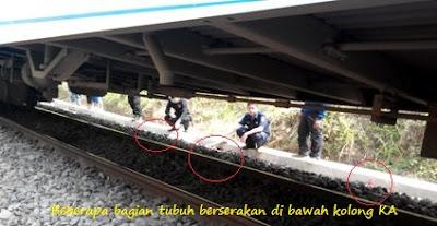 korban masuk kolong kereta api