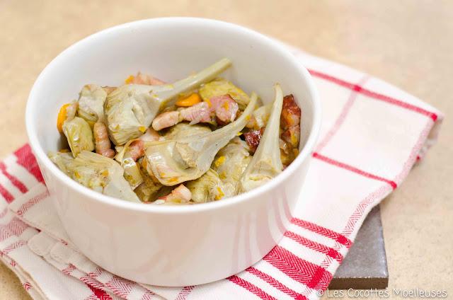 cocottes moelleuses artichauts barigoule