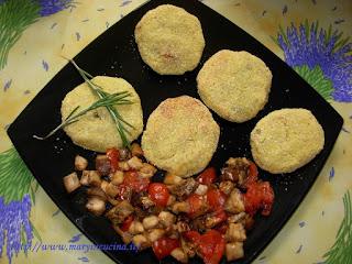 bomboloni di patate con farcia di melanzane