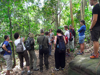 a quick introduction from the guide and the soldier was always watching