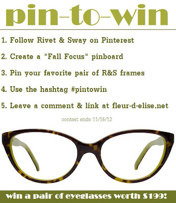 Enter to win a fab pair of eyeglasses from Rivet & Sway worth $199