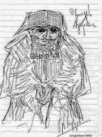 Σκίτσο του Αγίου Παϊσίου δια χειρός Ν. Λυγερού