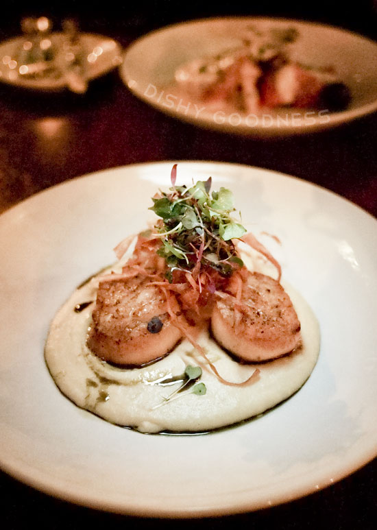 Stefan's at LA Farm: Diver Scallops with Sweet Corn Puree