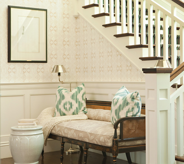 Foyer Seating Area : Theo s design eye catching ikat