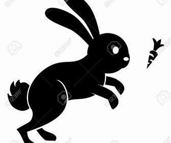 ilustrasi kelinci wortel