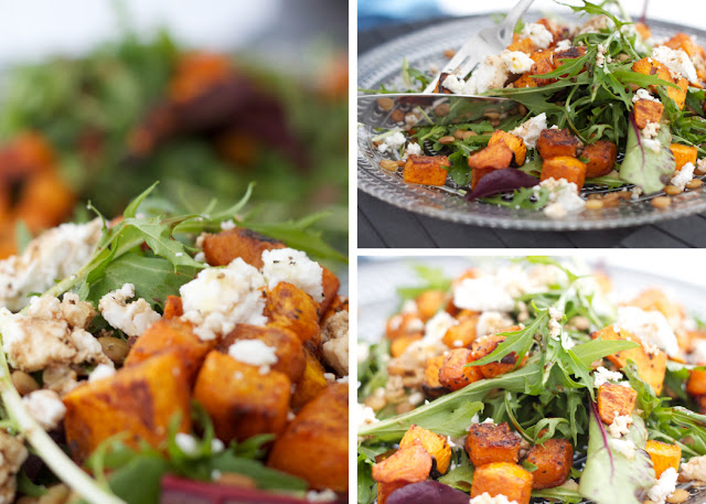 ... : Market Recipe/ Spiced Pumpkin, Lentil, and Goat Cheese Salad