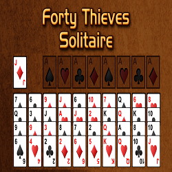 Forty Thieves Solitaire Card Game