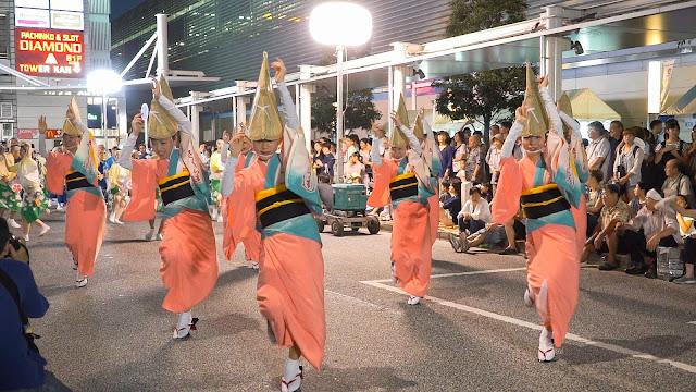 さくら連 小金井阿波踊り 2015 北口駅前ロータリー流し踊り