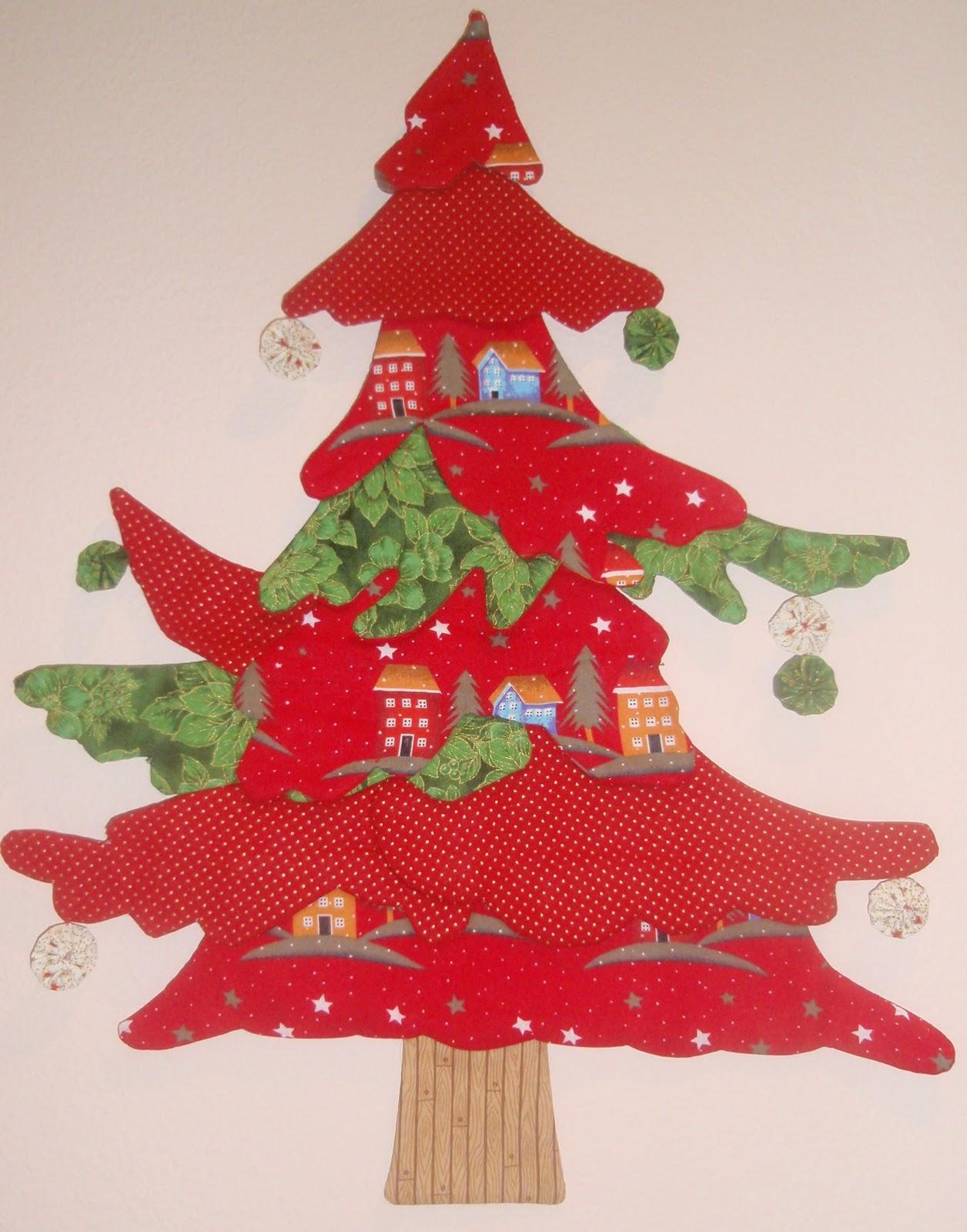 Los angeles de patchwork mari carmen y mar a - Arbol navidad tela ...
