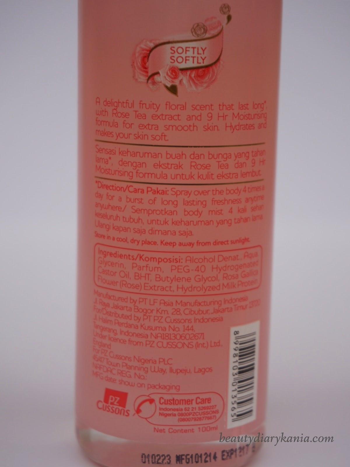 Beauty Diary Kania April 2015 Cussons Imperial Leather Body Wash White Princess Kemasan Mist Softly Dikemas Menggunakan Botol Plastik Bening Yang Diberikan Label Bewarna Soft Pink Dengan Sisinya