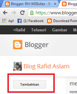 cara follow blog pada blogger