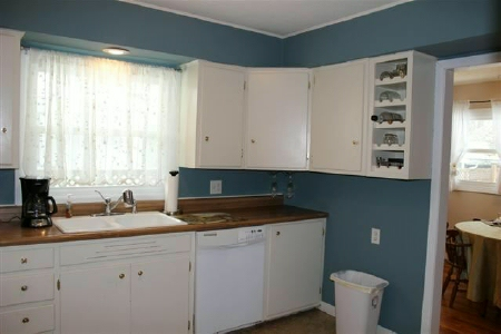 Kitchen staged for sale