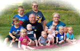 Grandpa &amp; Nana with all nine Grandkids