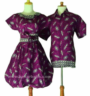 Foto Baju Batik Couple Moderen