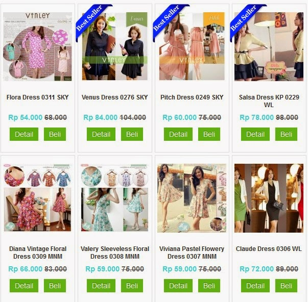 jual dress online di instagram