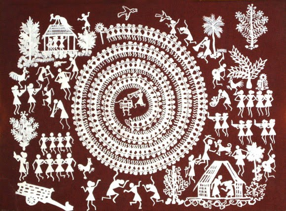 Maharashtra rich in culture and tradition the travelers world warli paintings art of maharastra photo courtesy httpnazarmagazine altavistaventures Image collections