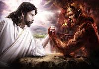 A longa luta de Deus, o Divino, contra o Diabo.