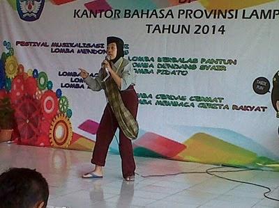 Maryam Juara Lomba Baca Cerita Rakyat Guru Sd Se Provinsi Lampung