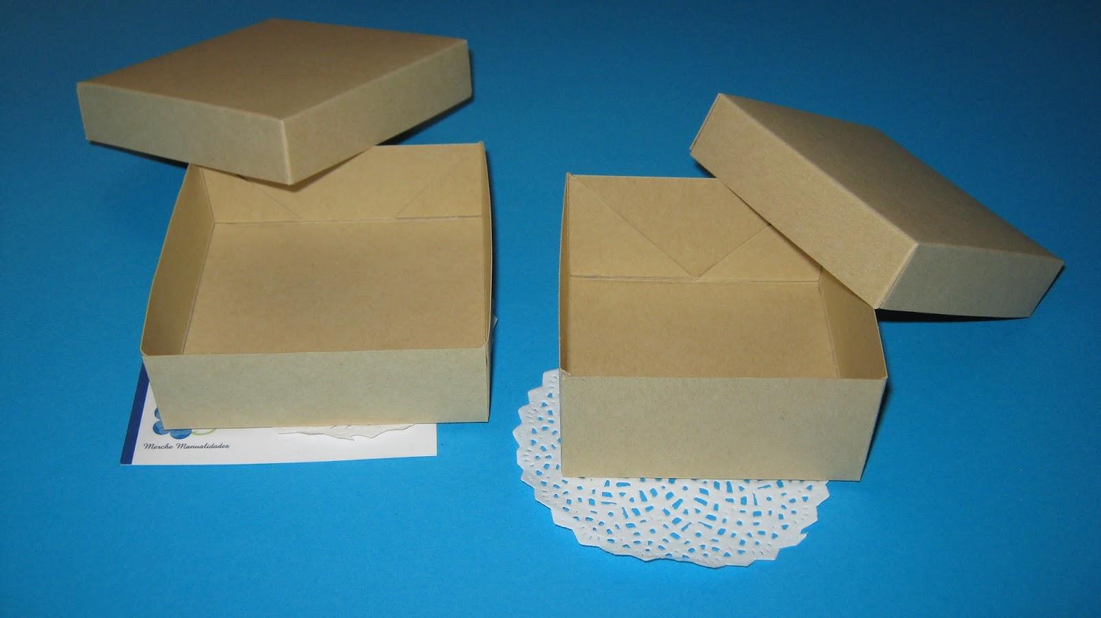 M m designs cajas kraft - Como hacer cajitas de cartulina ...