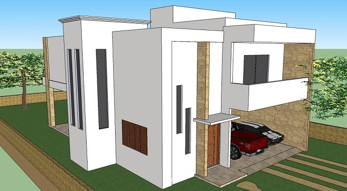 Projetos de sobrados gr tis for Casa moderna 2 andares 3 quartos