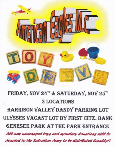 11-24/25 American Eagles M. C. Toy Drive
