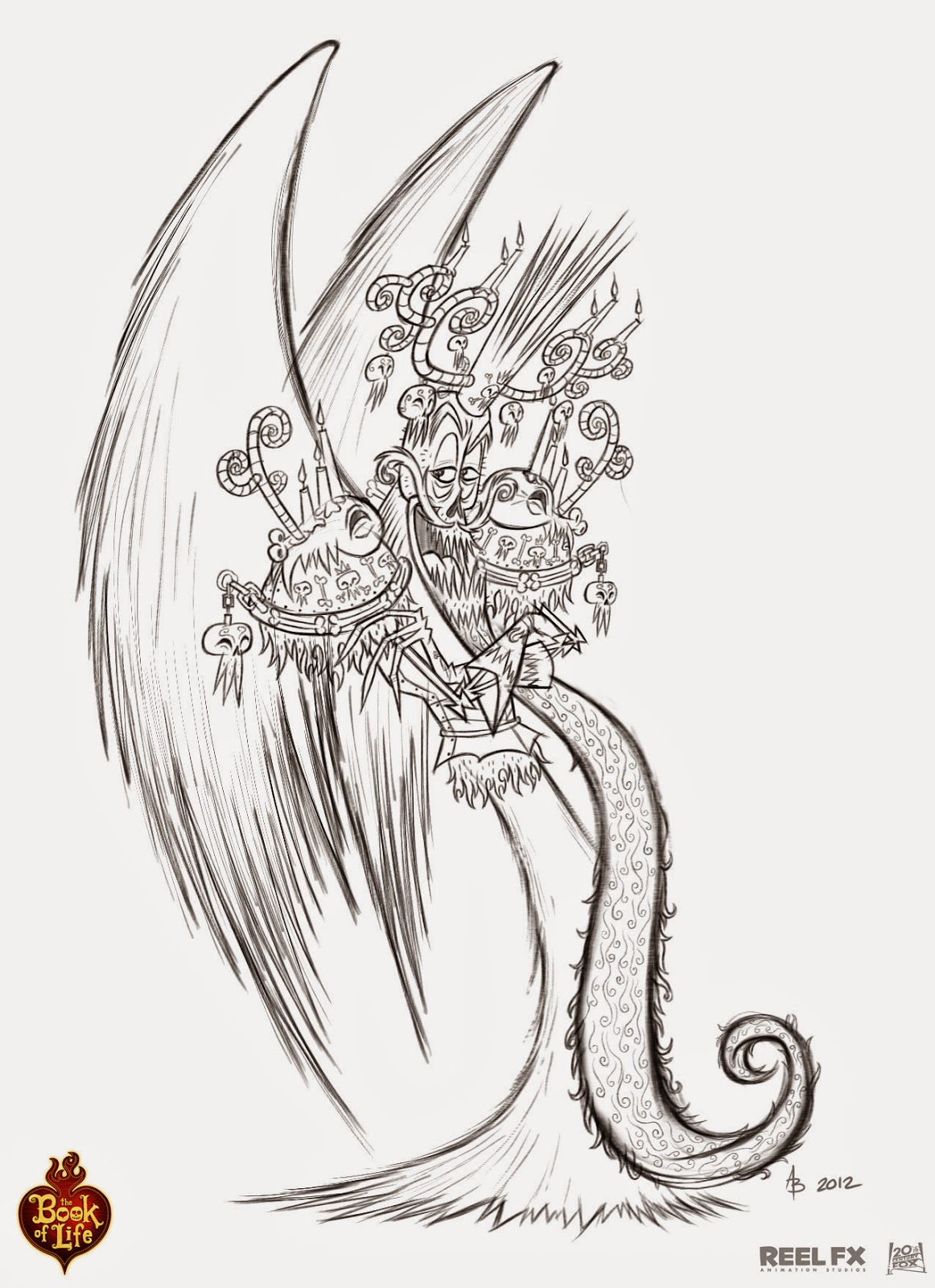 Book of life for coloring -  The Book Of Life Xibalba Character Poses