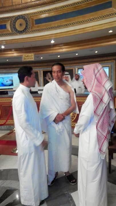 Foto Jokowi di Hotel spesial