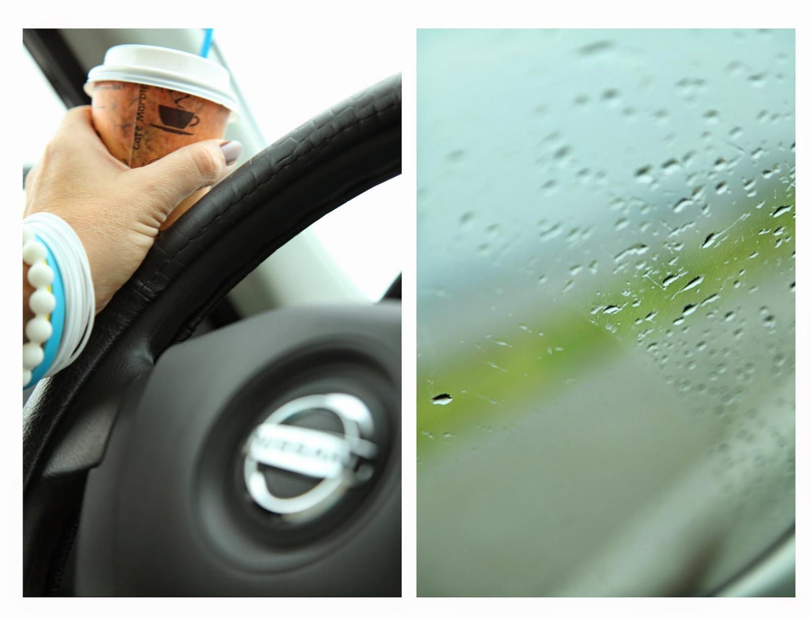 ниссан, дождь, дождик